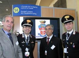 Ufficiali dell'Arma dei Carabinieri all'Open Day