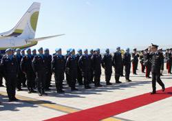 Schieramento dei militari in partenza per Haiti