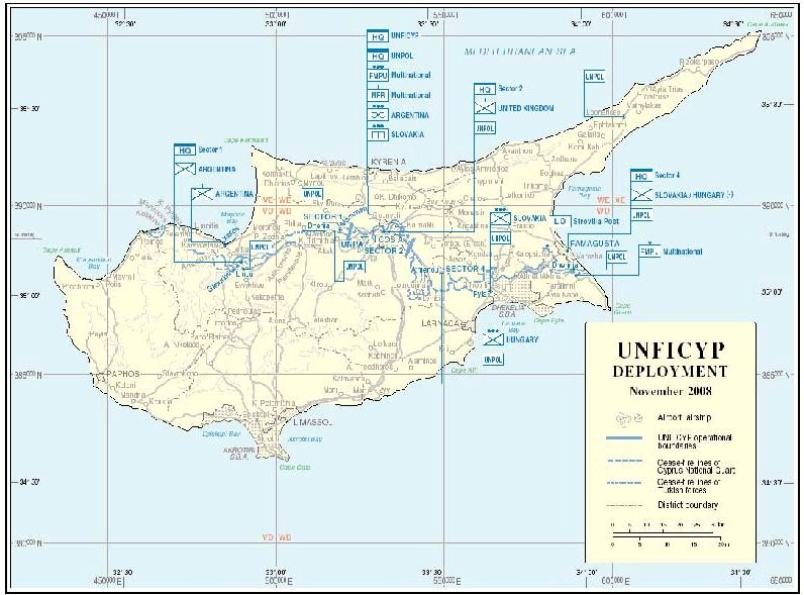UNFICYP Deployment