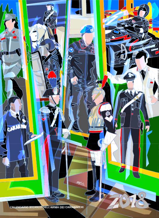 Calendario Storico Carabinieri 2019.2018