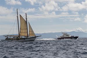 FOTO DUE - motovedetta dei Carabinieri nel tratto di mare compreso tra l'Isola del Giglio e di Giannutri - App. Sc.