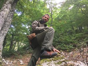 Camminar per boschi a