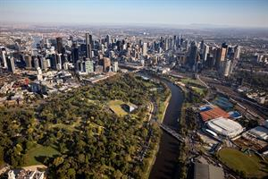 Iconic parks and the central business district of the City of Melbourne