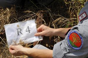 Reperto mostrato da un Carabinieri forestale