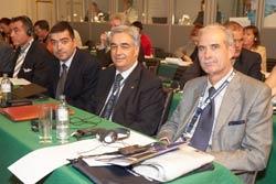 Da destra Colonnello Muggeo, Colonnello Corsetti, Capitano Bramante, Ten.Colonnello Petrella
